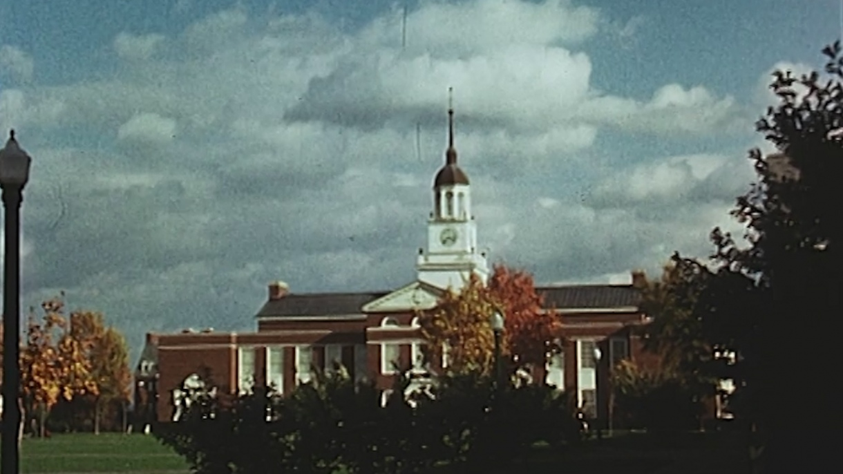 A historic image of Bertrand Library