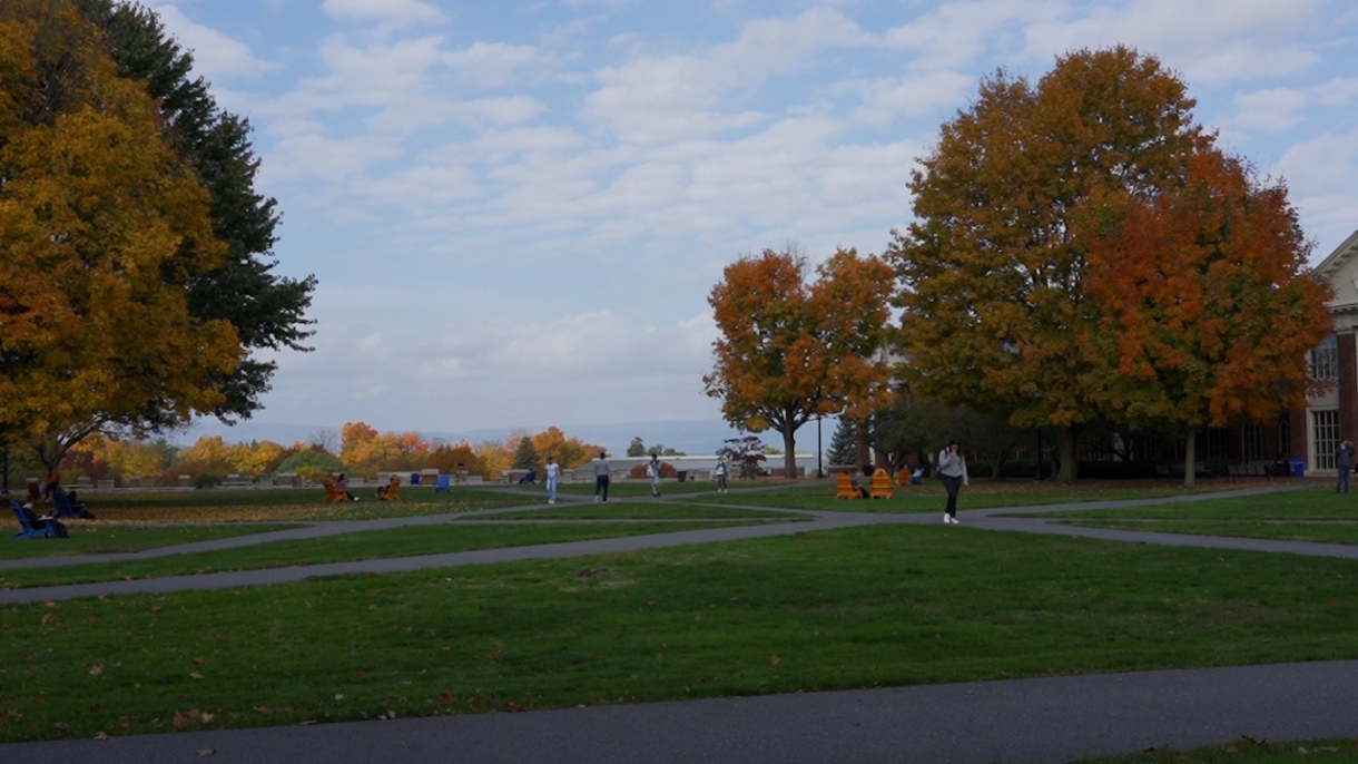 Bucknell's campus in fall