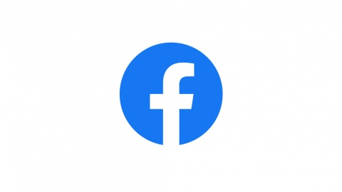 The blue Facebook logo