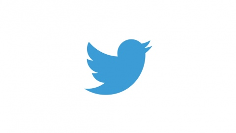 The blue Twitter logo