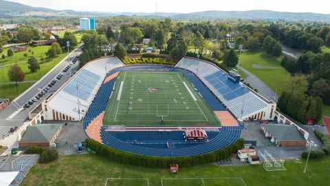 Ariel view of the Bucknell Stadium