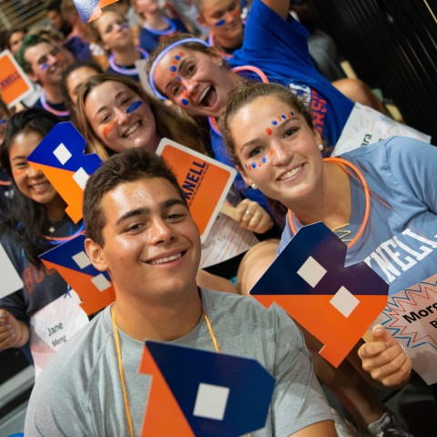 Students at 'ray for the Orange and the Blue