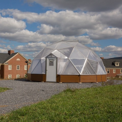 Exterior of Living Greenhouse