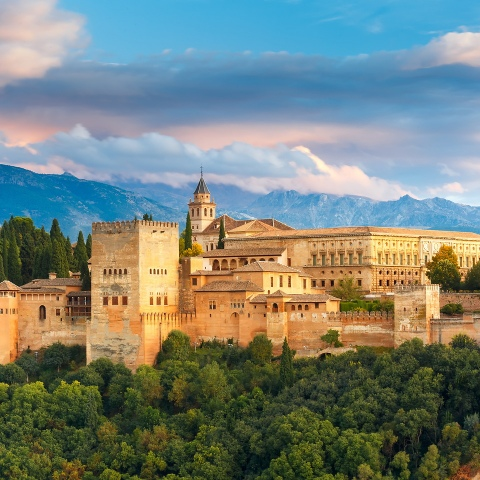 Beautiful image of Granada, Spain