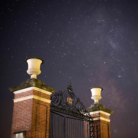 Starry Gates at the stadium