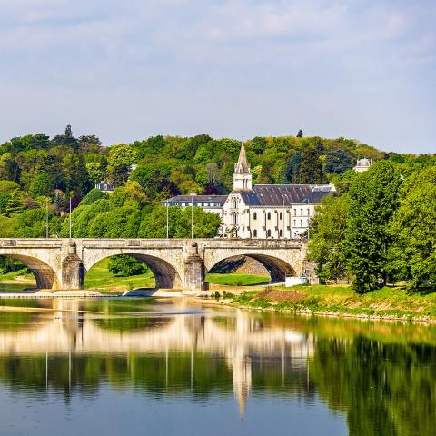 Pont Wilson on the Loire in Tours, France