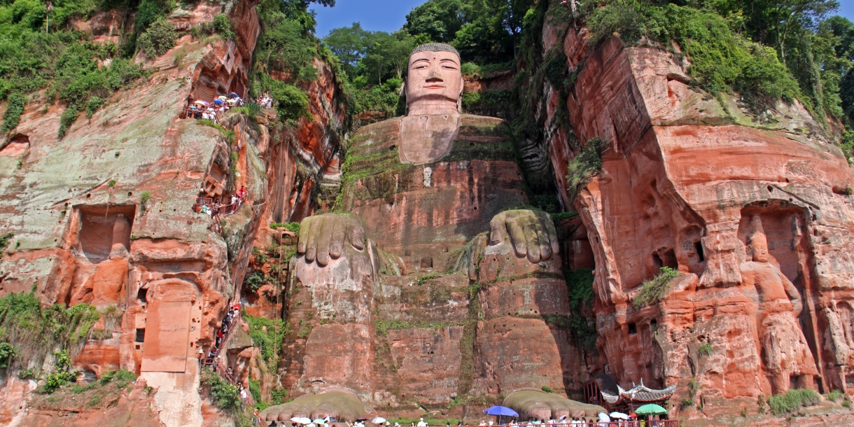 One of the world's largest budga statue in Leshan, Sichuan, China
