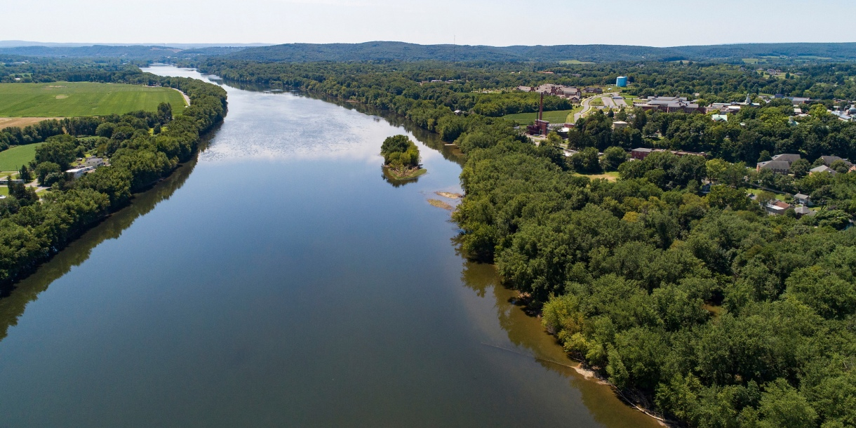 Aerial photo of the Susquehanna River