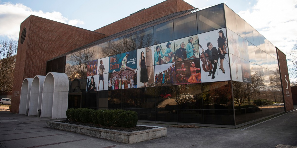 Exterior of the Weis Center for the Performing Arts