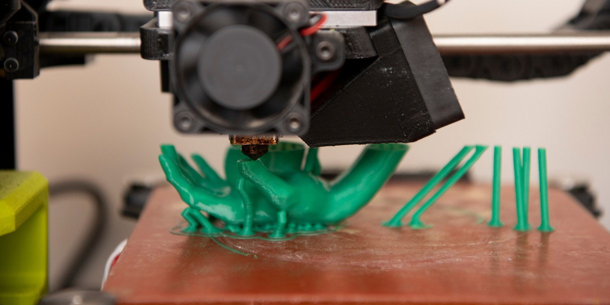 3D printing of a hand
