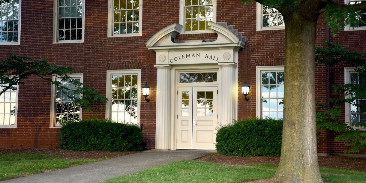 Exterior of Coleman Hall