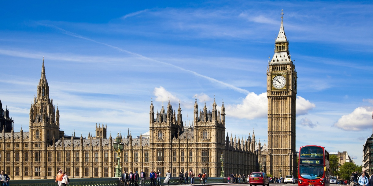 View of Big Ben and Palace of Westminster in London, England