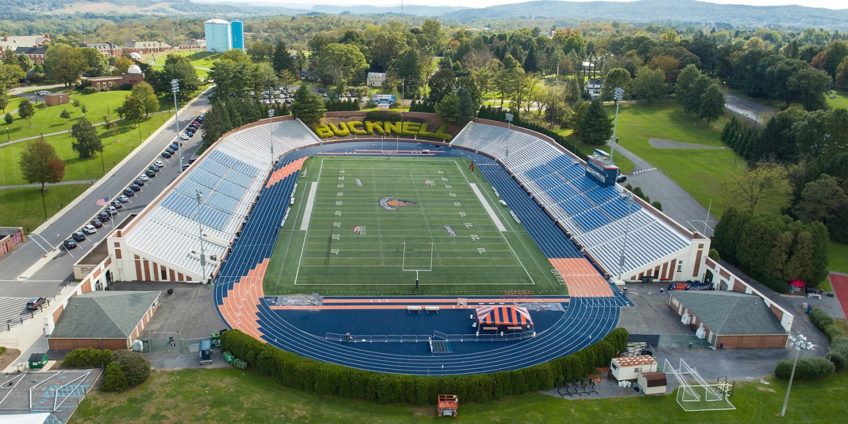 Aerial view of the Bucknell Stadium
