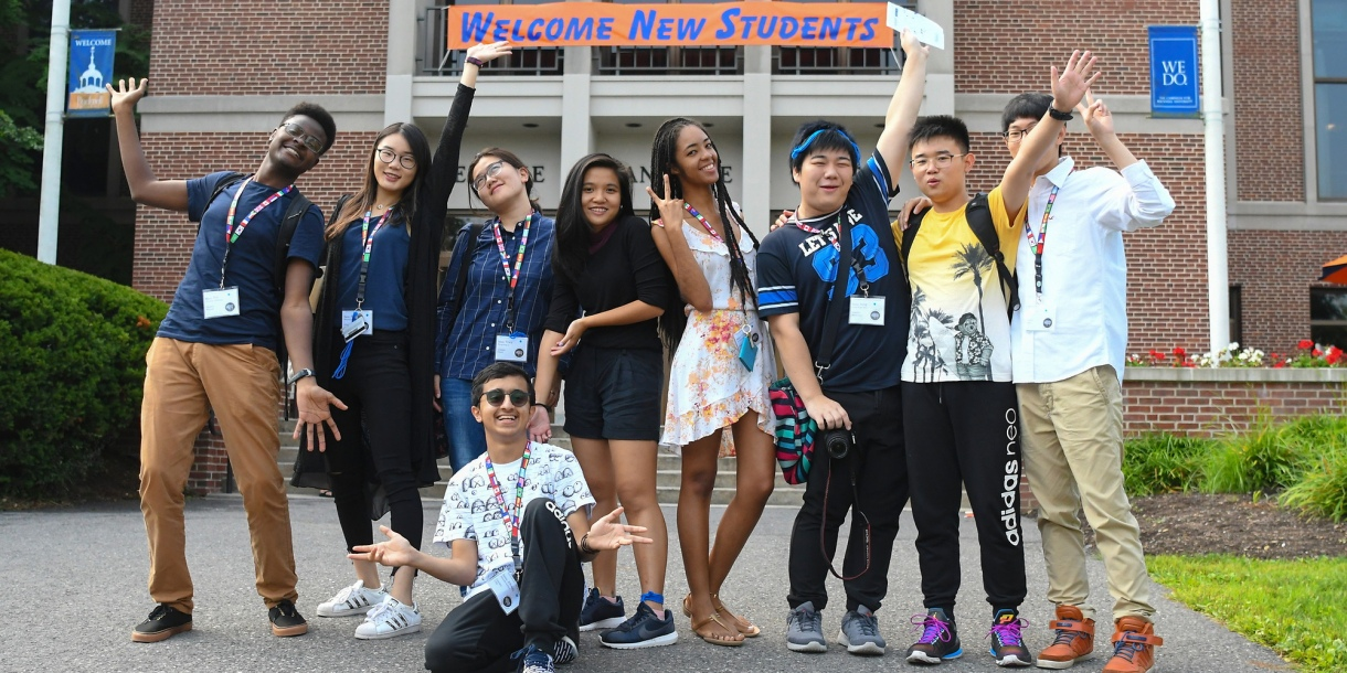 Students at International Orientation