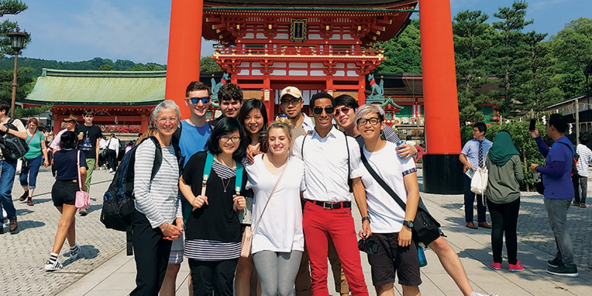 Group of students in Kyoto, Japan