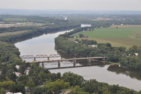 Aerial view of the Susquehanna River