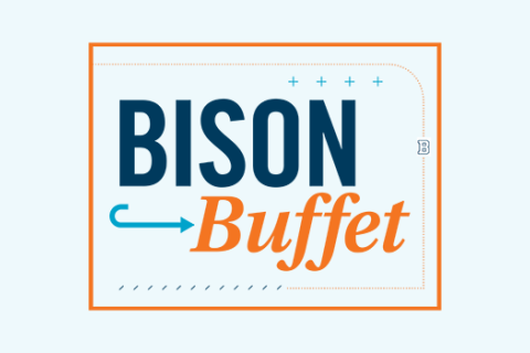 Bucknell Bison Buffet Sign