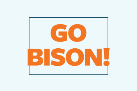 Go Bison Printable Sign