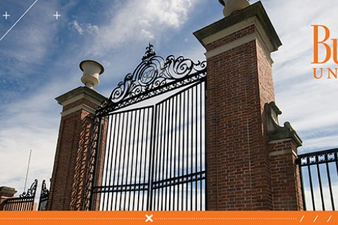 The gate at Bucknell