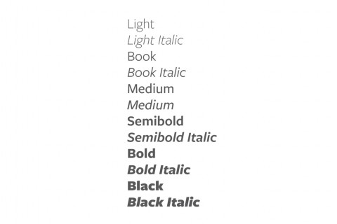 An example of the Freight Sans font