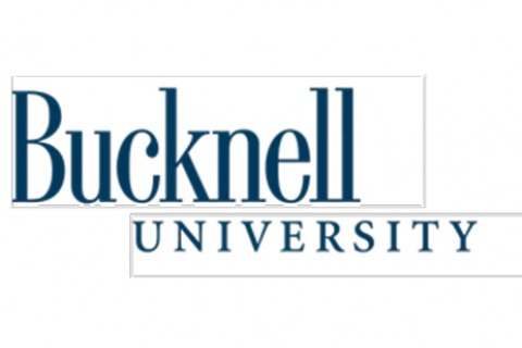 A Bucknell wordmark with the subline adjusted to the side
