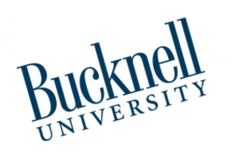 A rotated Bucknell wordmark