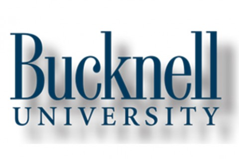 A Bucknell wordmark with a text shadow effect