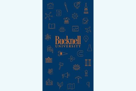 A collage of Bucknell's iconography