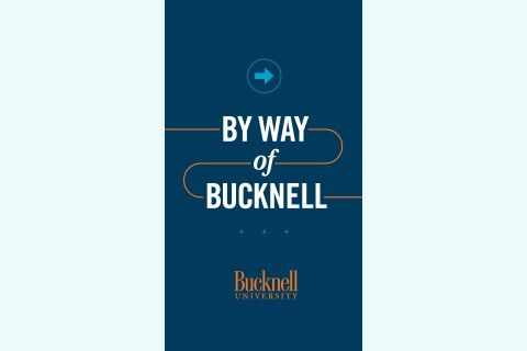 A blue wallpaper of By Way of Bucknell