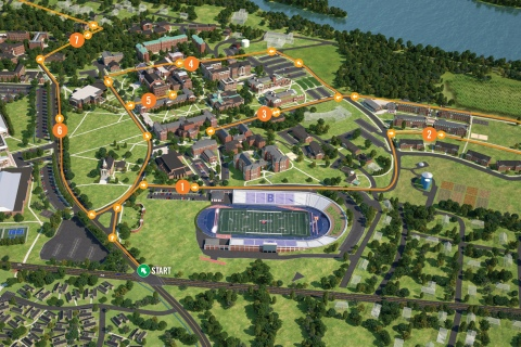 Campus Driving Tour Overview Map