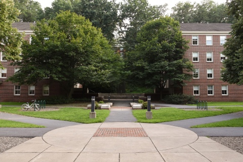 Bucknell summer sidewalks