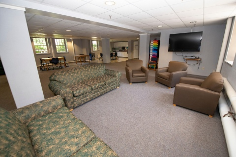 Residence hall living area