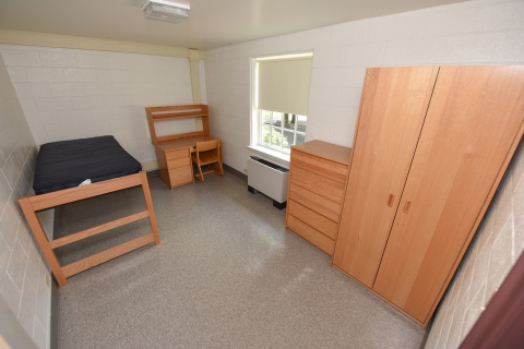 Single dorm in Swartz Hall