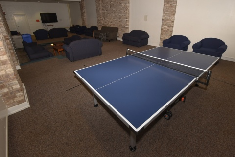 Ping pong table inside Vedder Hall