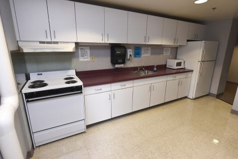 Kitchen inside residence hall
