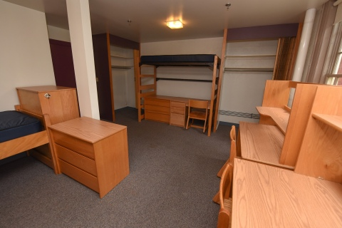 Triple dorm room