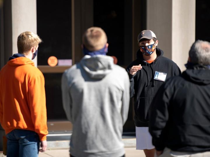 Bucknell University Campus Tour with Covid Precautions
