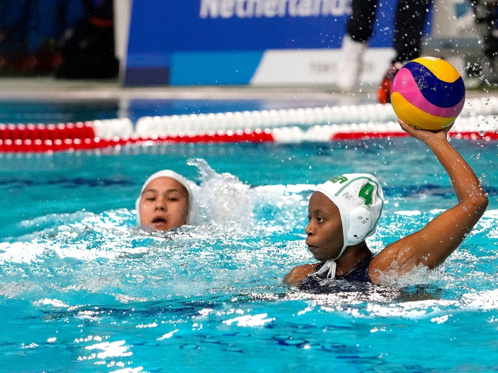 Boati Motau '25 competes in the Olympics with the South African women's water polo team