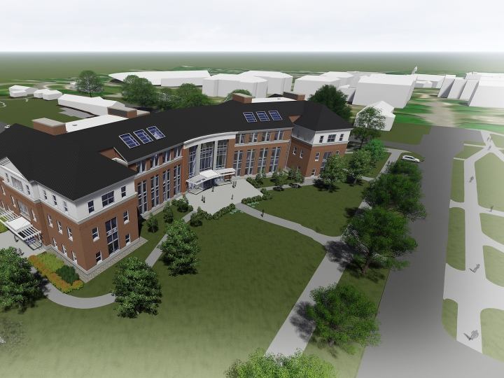 Artist rendering of future building