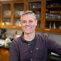 Mark Haussmann in his Bucknell biology lab