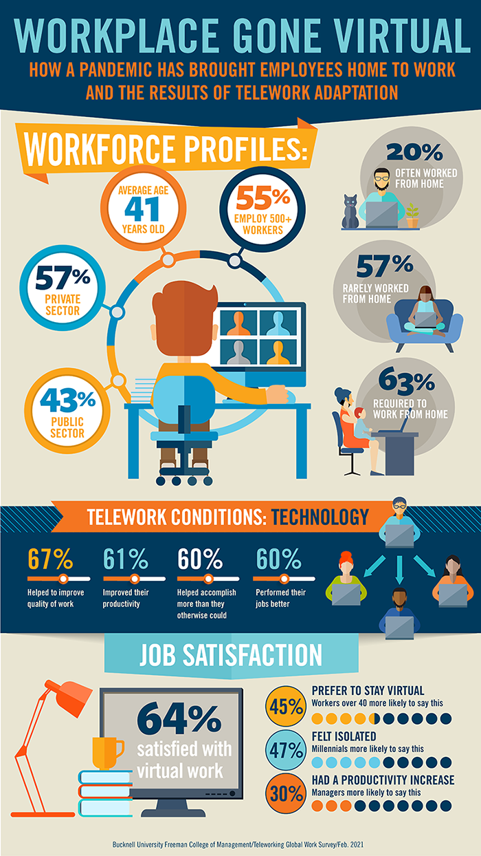 Telework survey infographic