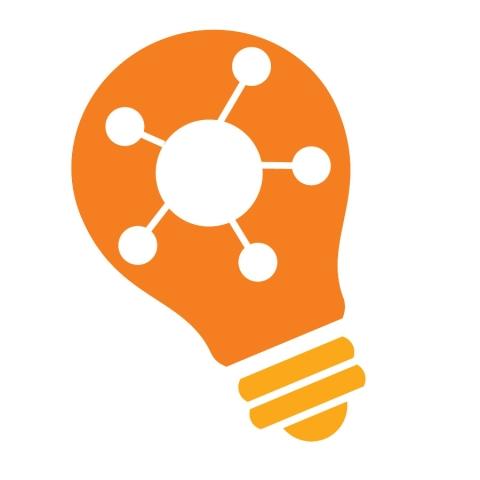 Orange Innovate Lightbulb