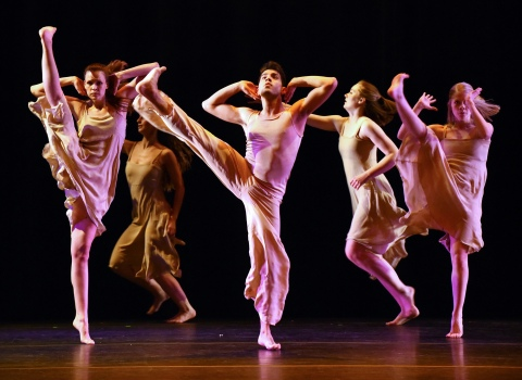 Students in dance performance